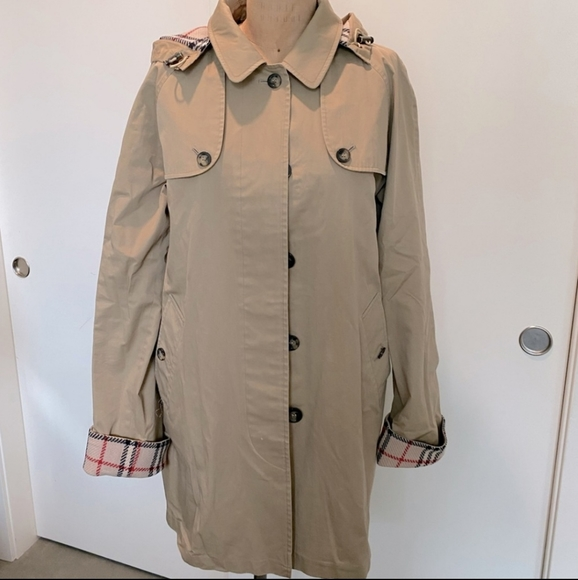 Burberry Trench Coat with Removable Fringe Lining